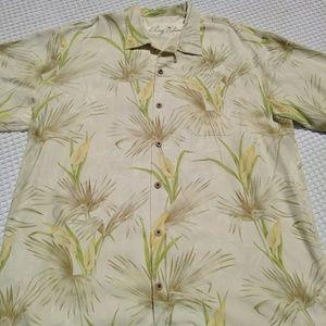 Men's Tommy Bahama Hawaiian silk shirt floral XL